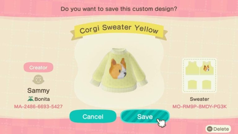 Corgi Sweater Yellow