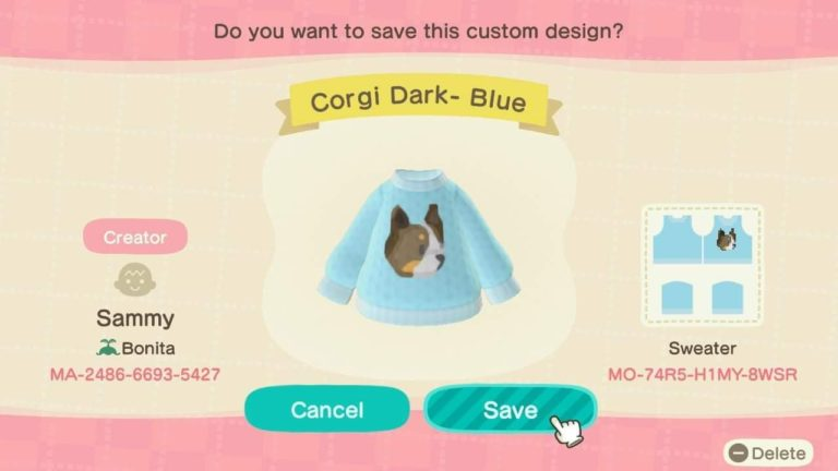 Corgi Dark- Blue