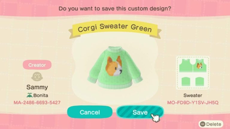 Corgi Sweater Green