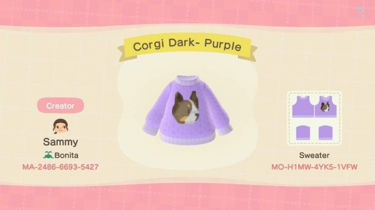 Corgi Dark- Purple