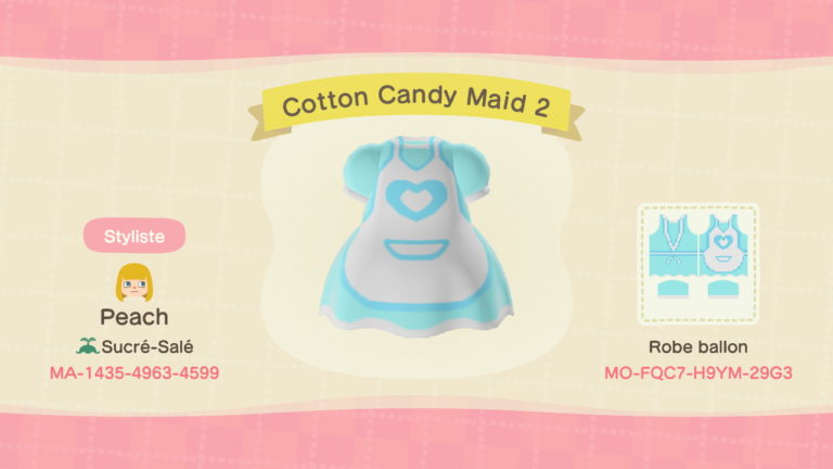Cotton Candy Maid (blue)