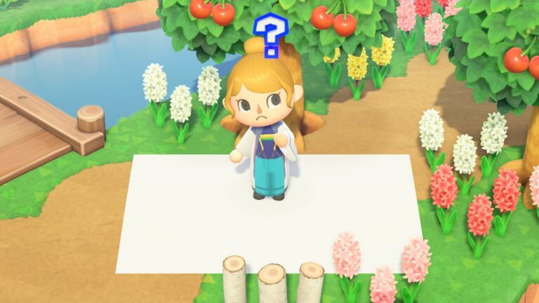 Why do designs turn white when deleted in Animal Crossing: New Horizons?