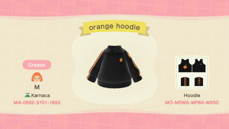 native orange streetwear hoodie