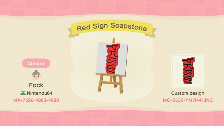 Red Sign Soapstone