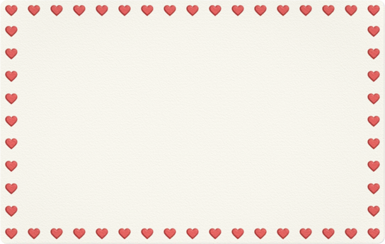 Lovely Hearts Card - Animal Crossing: New Horizons